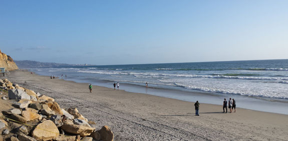 A walk along Torrey Pines Beach