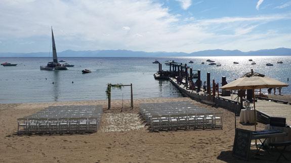Hyatt Regency, Incline Village - wedding set-up