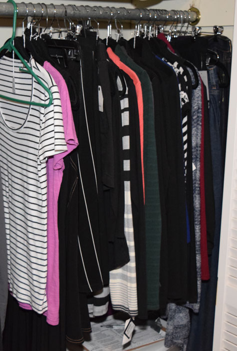 "Closet ""staging area"" - October 2015"