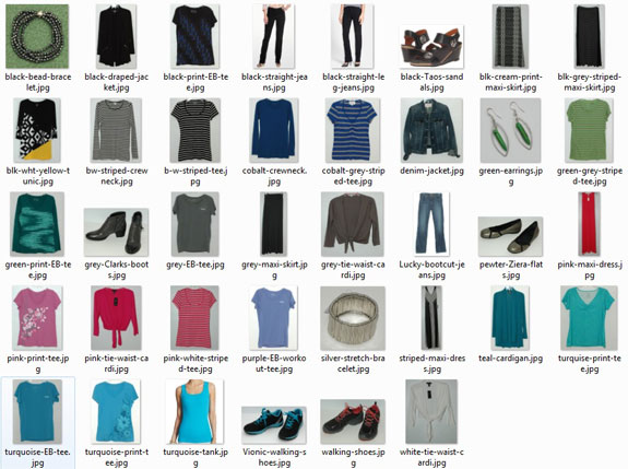 Items bought January through June 2015
