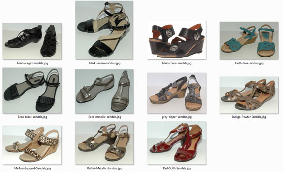 Summer wardrobe - shoes