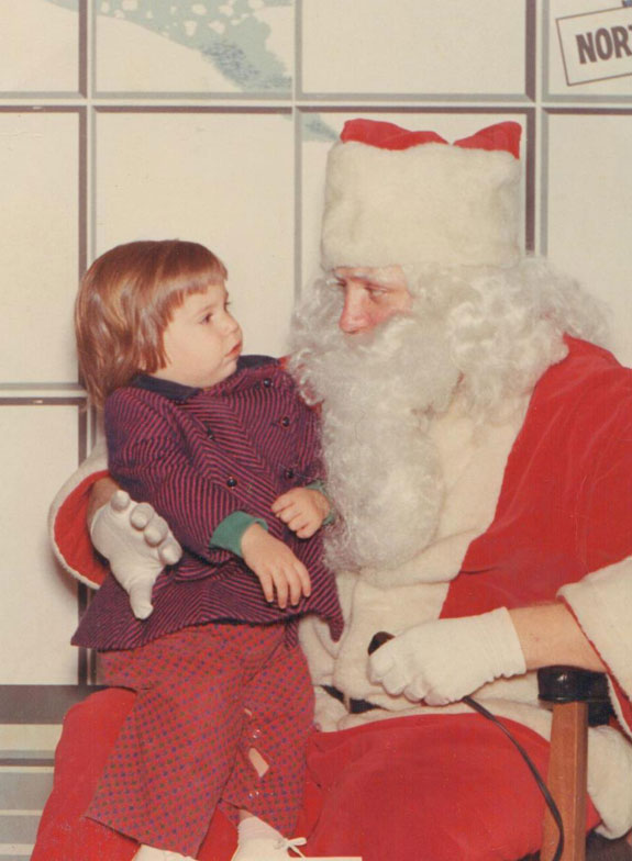 Age 2 with Santa