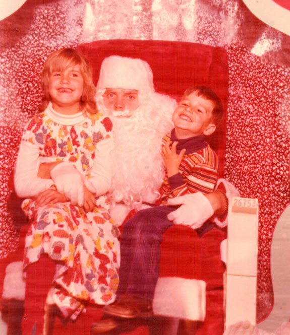 With Scott and Santa