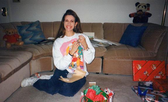 Christmas sweatshirt, 1995