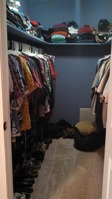 Closet full of 300 items