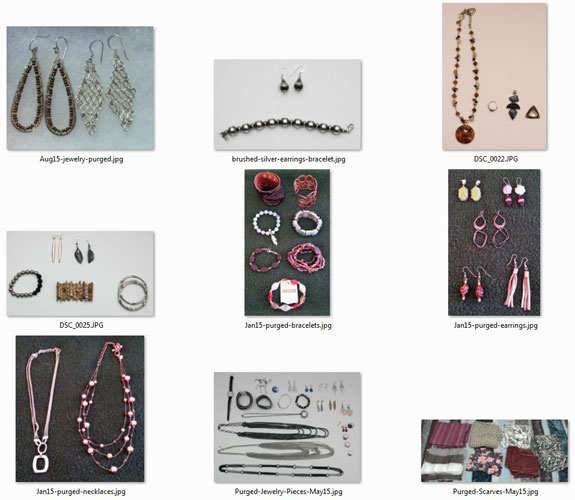 2015 purged jewelry and scarves