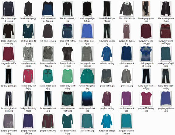 January 2016 - clothes worn