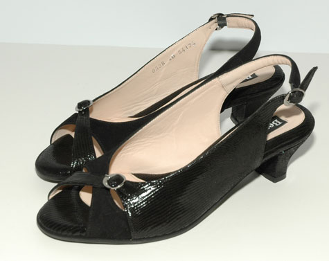 black Beautifeel slingbacks