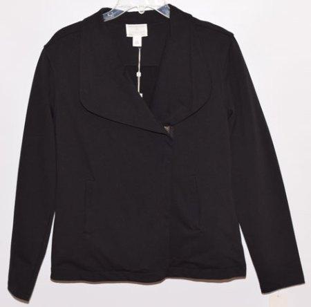 black woven moto jacket