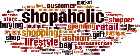 Shopaholic word cloud