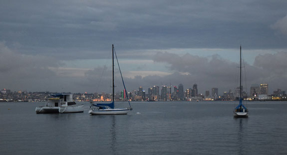 San Diego City skyline from Shelter Island
