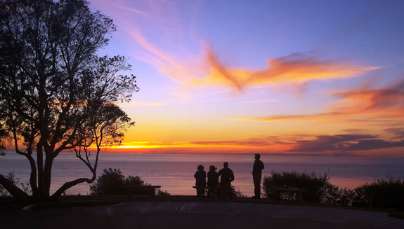 Sunset view from PLNU