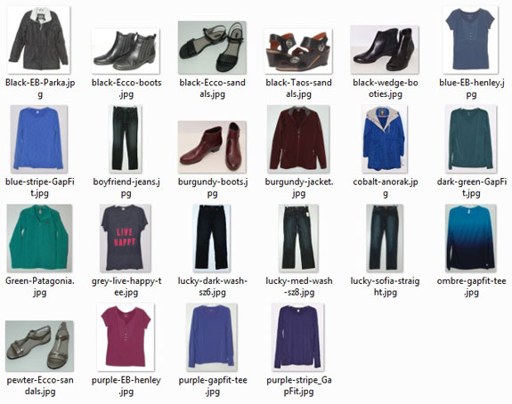 Most worn items in 2016