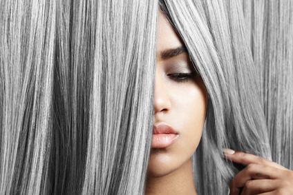 Gray hair transition