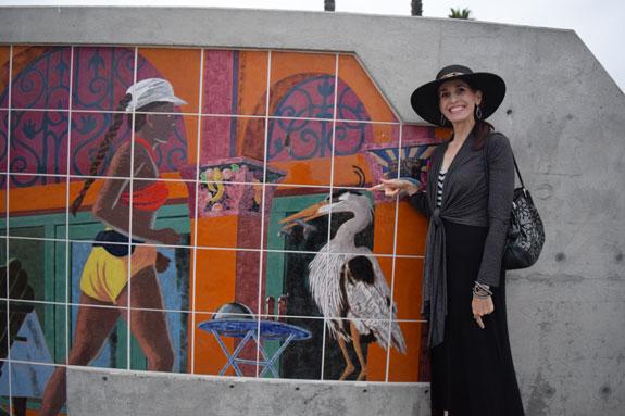 Huntington Beach Pier Plaza - Great Blue Heron