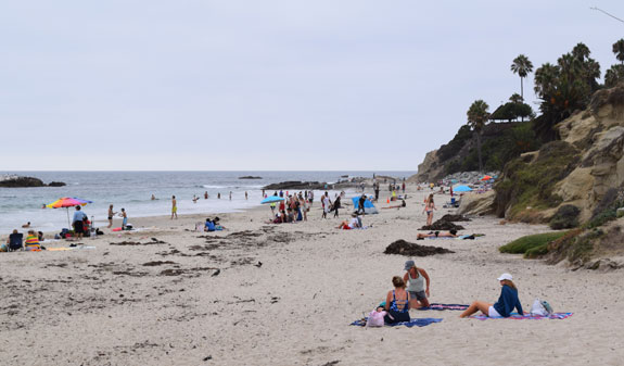 Laguna Beach sunbathers
