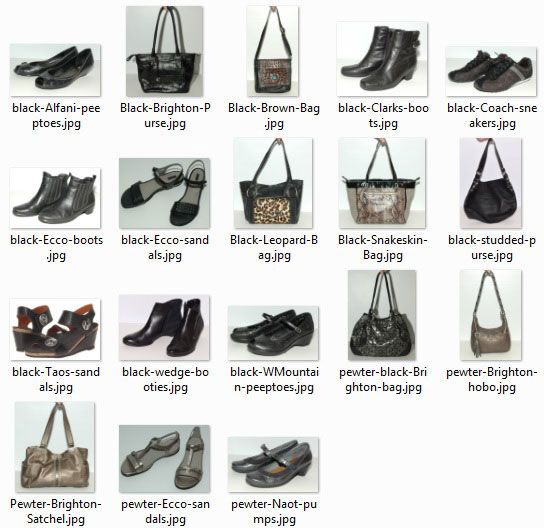 Shoes and bags worn 30-plus times