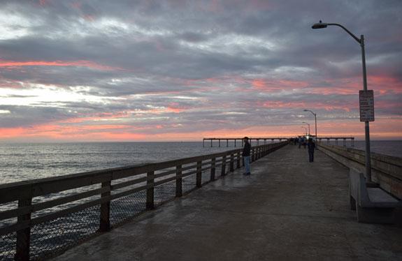 Sunset at Ocean Beach Pier