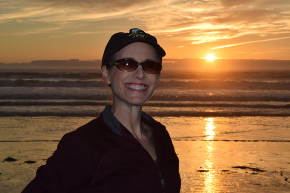 Debbie Roes during a Pacific Beach Sunset