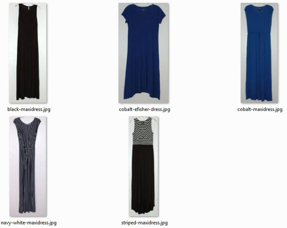ideal-sized wardrobe: dresses