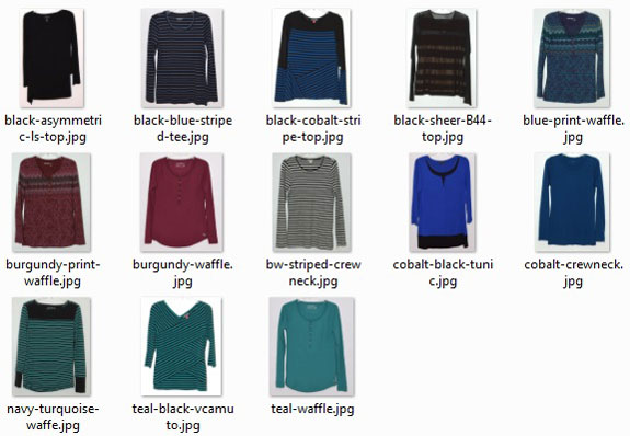 optimal-size wardrobe: long-sleeved tops