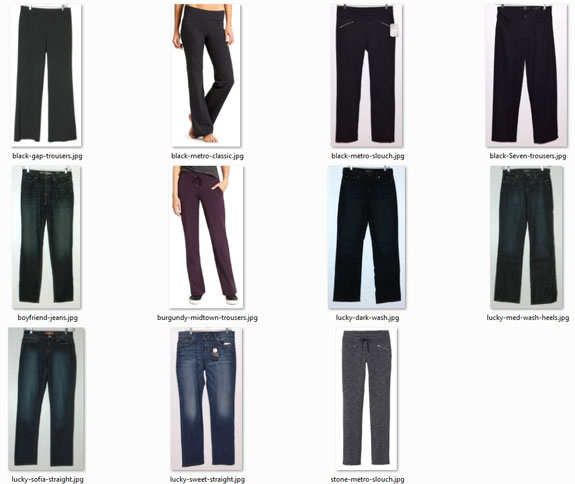 optimal-size wardrobe - pants