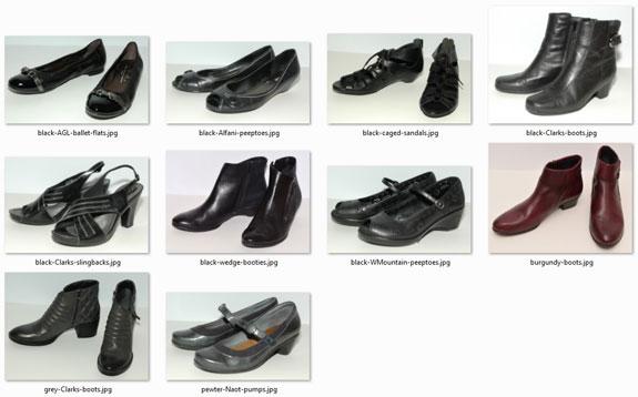 optimal-size wardrobe - shoes