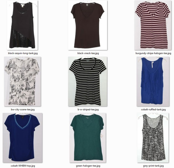 optimal-size wardrobe: short-sleeved and sleeveless tops