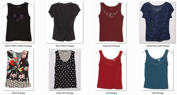 ideal-sized wardrobe: summer tops