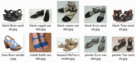 ideal-sized wardrobe: summer shoes